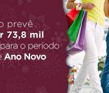 Letreiro: Comércio prevê contratar 73,8 mil pessoas para o período de Natal e Ano Novo.