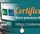 Novo processo de emissão do certificado